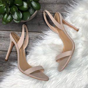 Schutz Luriane Heeled Sandals Pink Nubuck 9.5